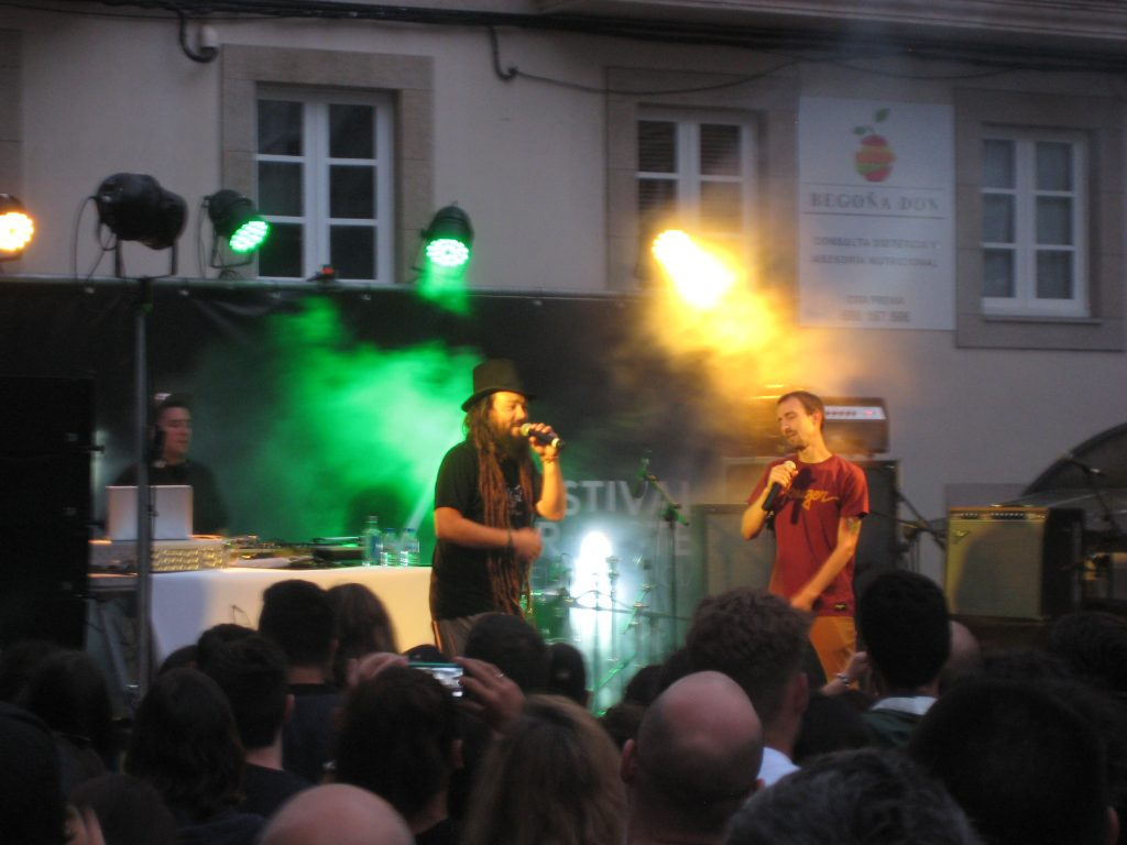 Koncert i midtbyen, La Coruña