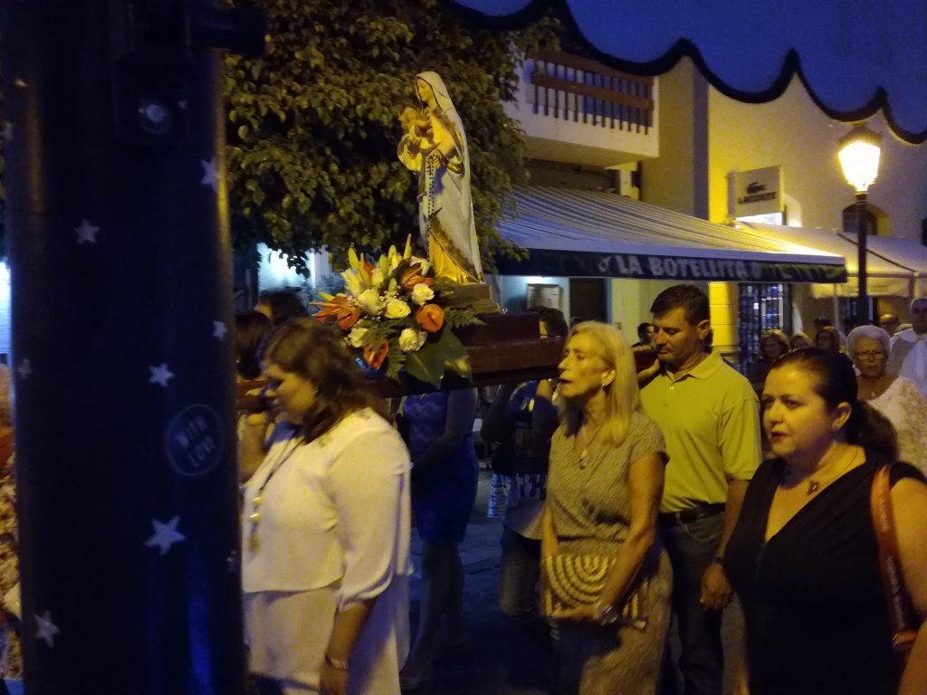 Optog til ære for Señora de La Nieves, La Gomera