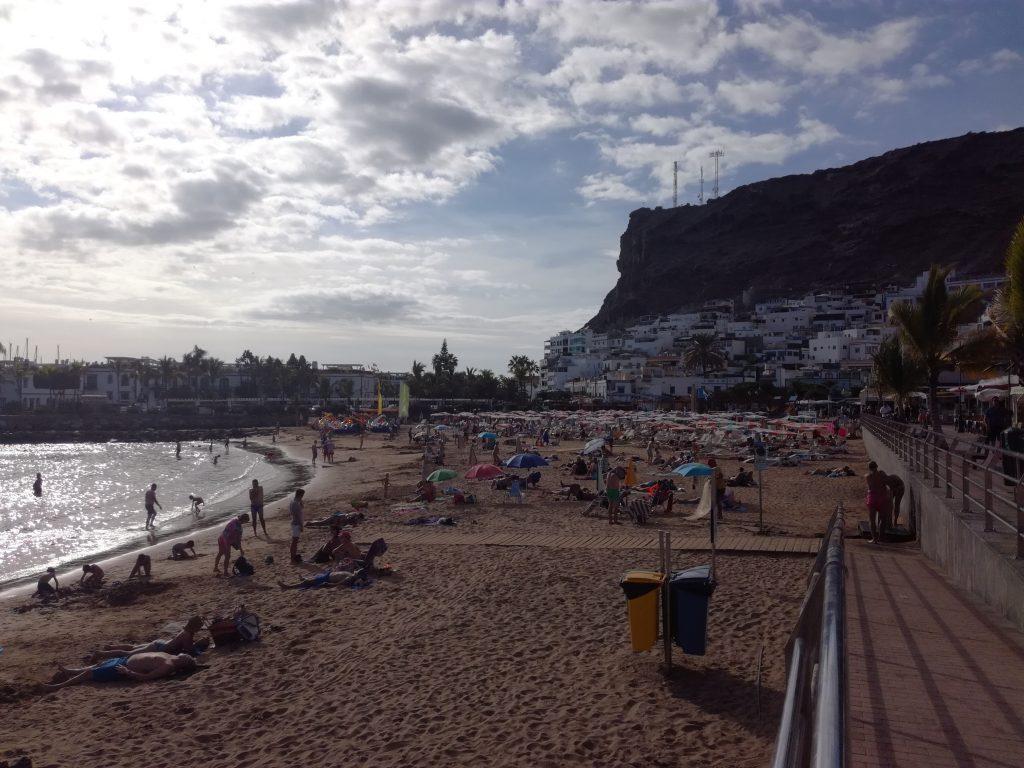 Stranden i Puerto Mogan, Gran Canaria
