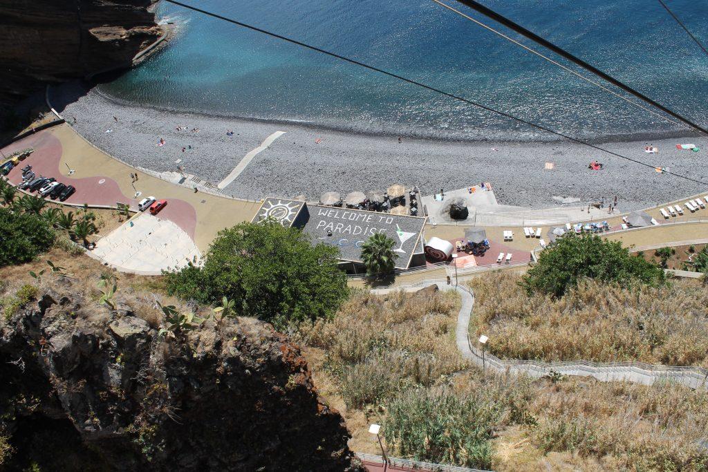 Svævebane til stranden