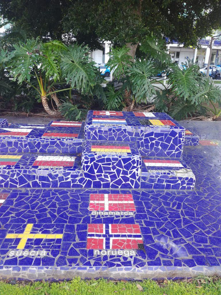 Mosaik i Santa Catalina Parken, Las Palmas