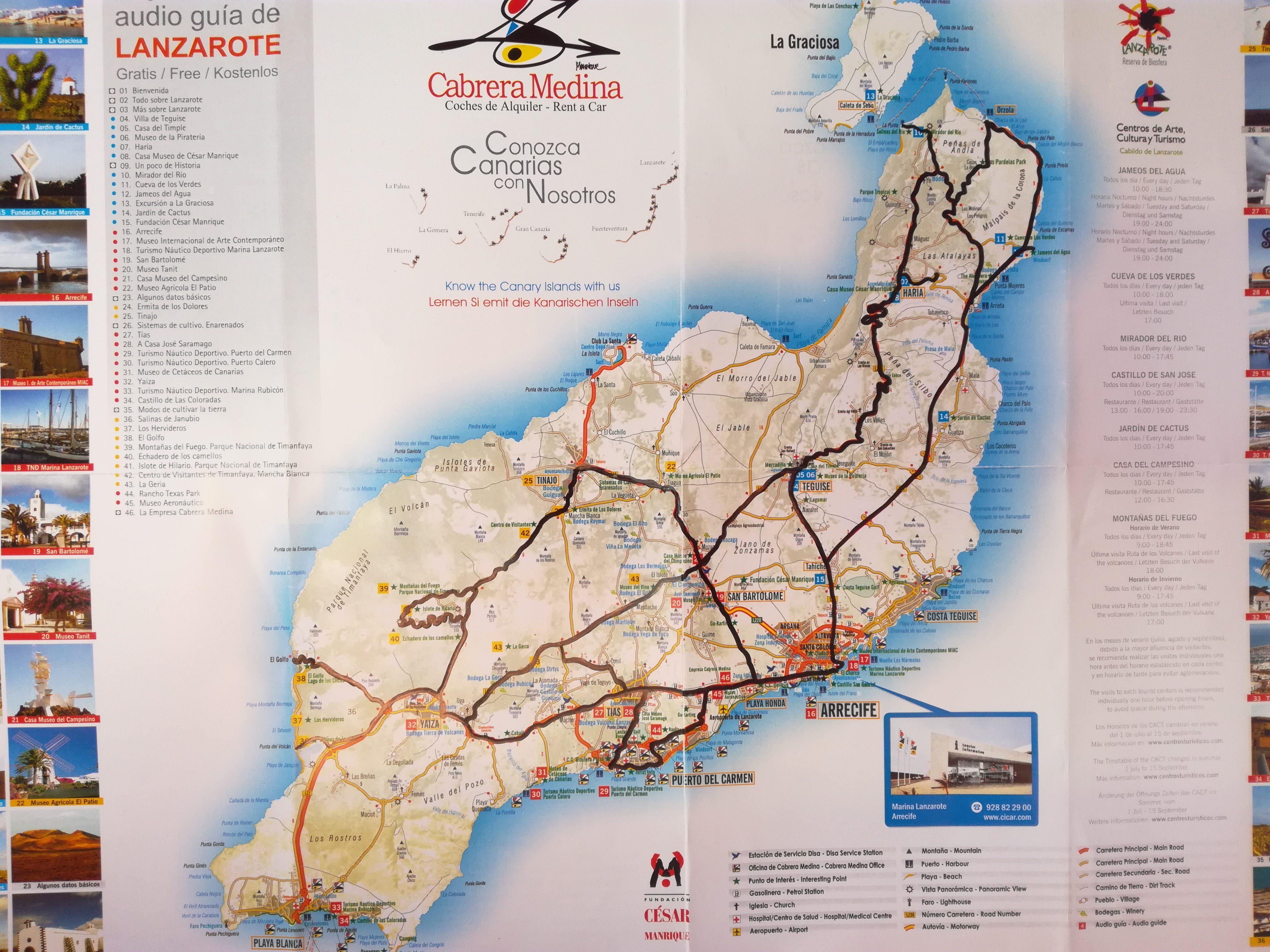 Køretur (2 dage) på Lanzarote