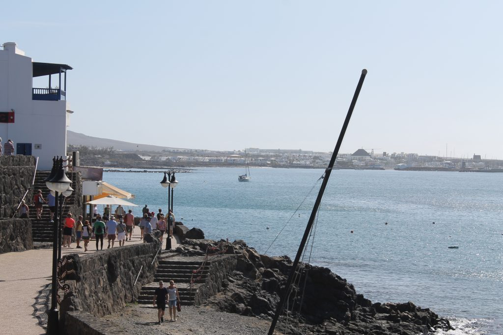 For anker ved Playa Blanca
