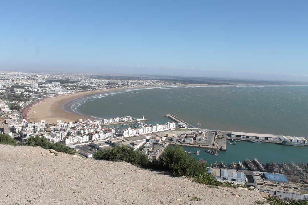 Agadir Marina, fiskerihavn og strand