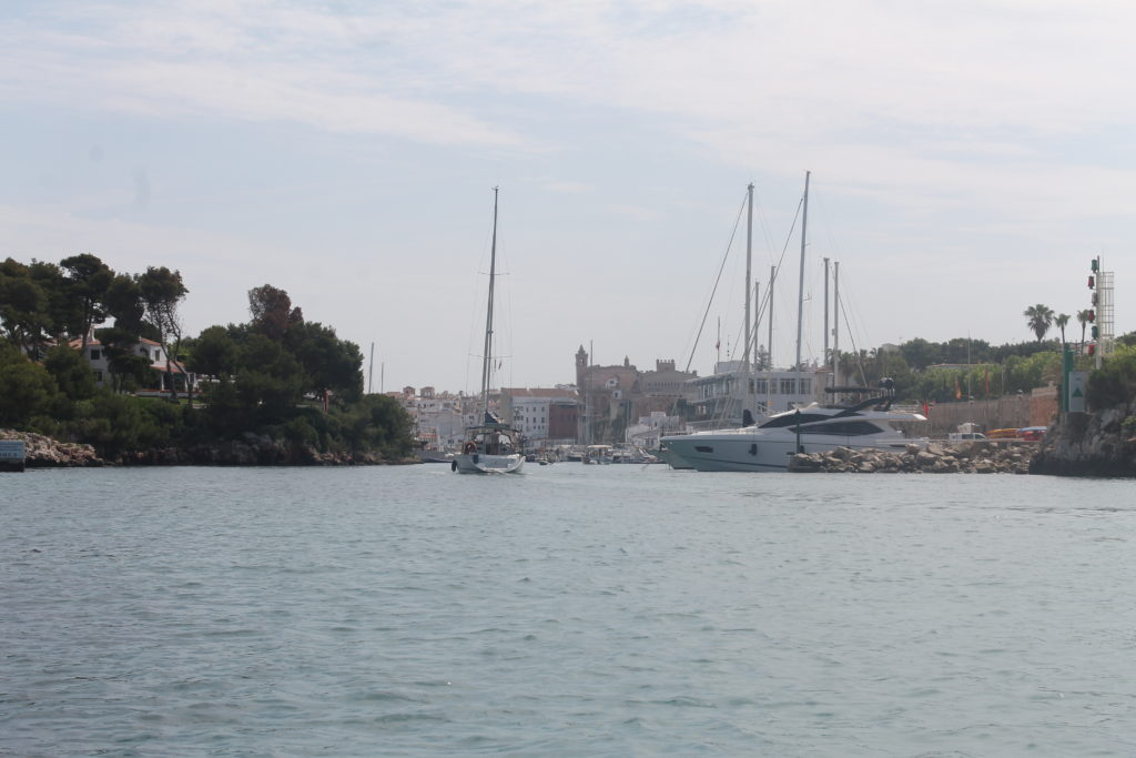 Indsejling til Ciutadella
