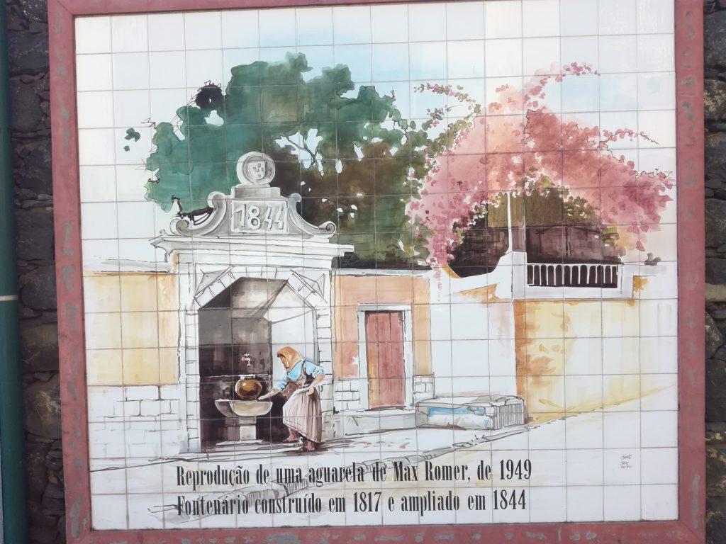 Maleri af brønd, Funchal, Madeira