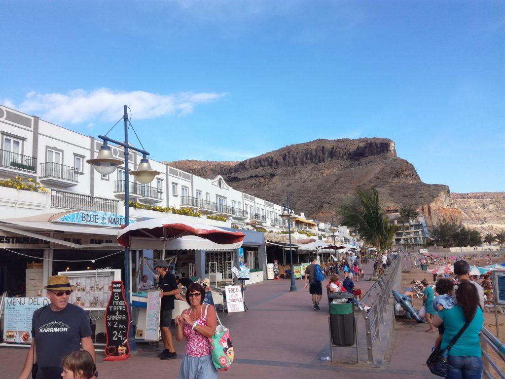 Havnefronten i Puerto Mogan, Gran Canaria