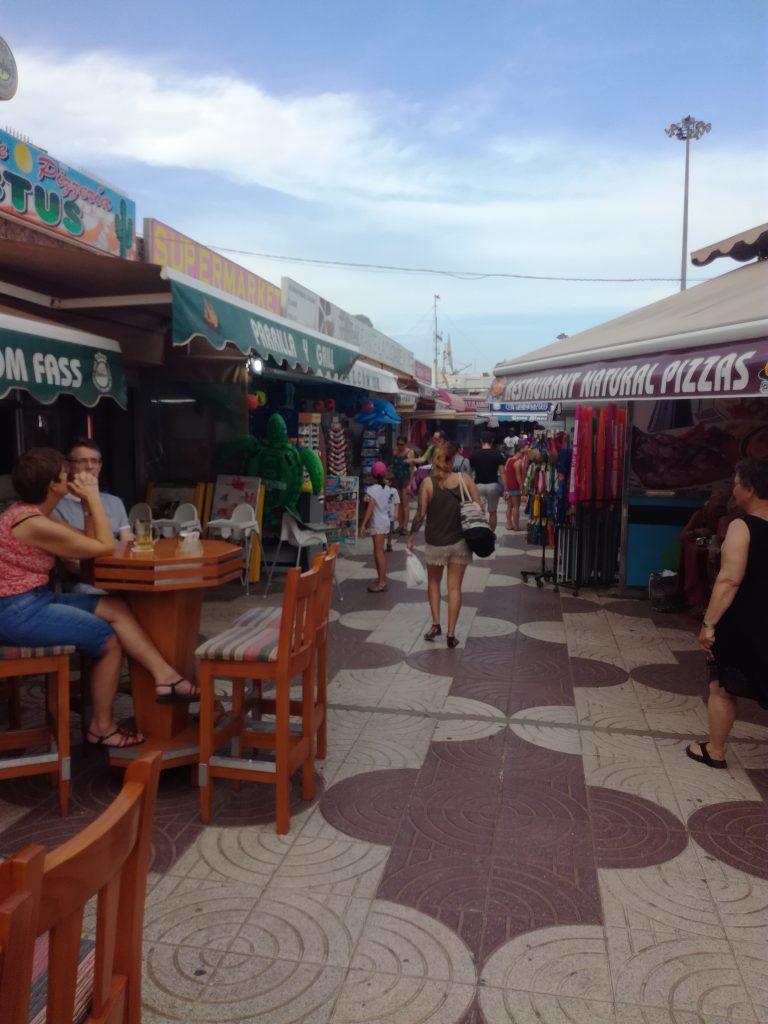 Turistcentrum i Playa del Ingles, Gran Canaria