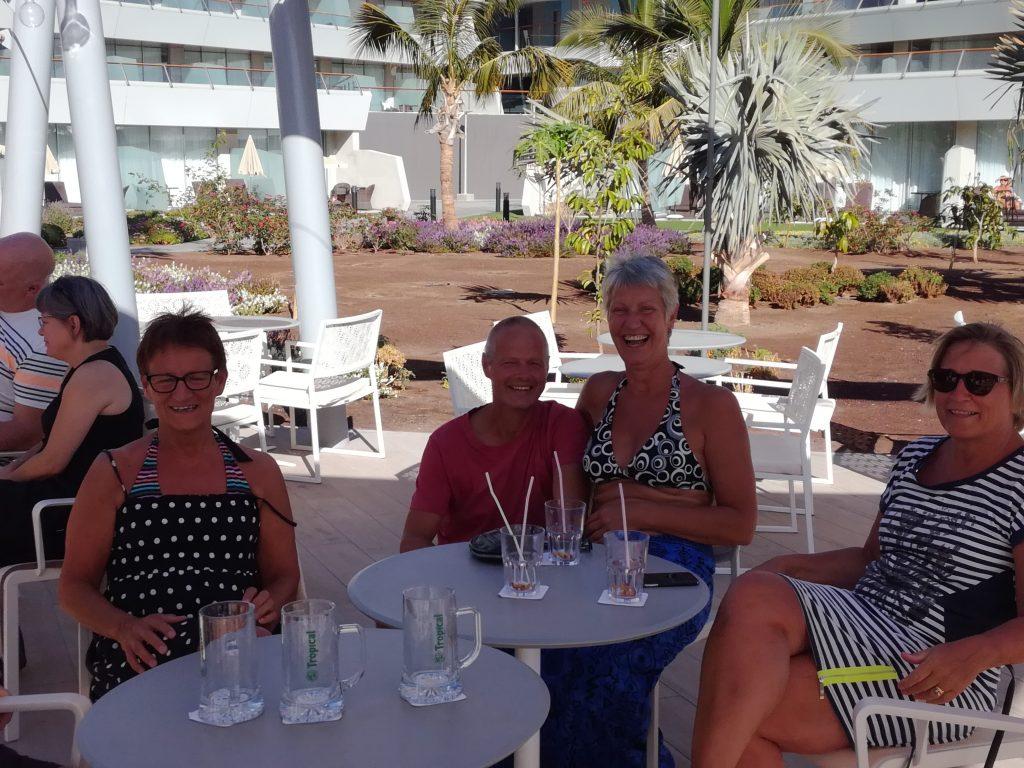Besøg fra Hvide Sande i Puerto Mogan, Gran Canaria