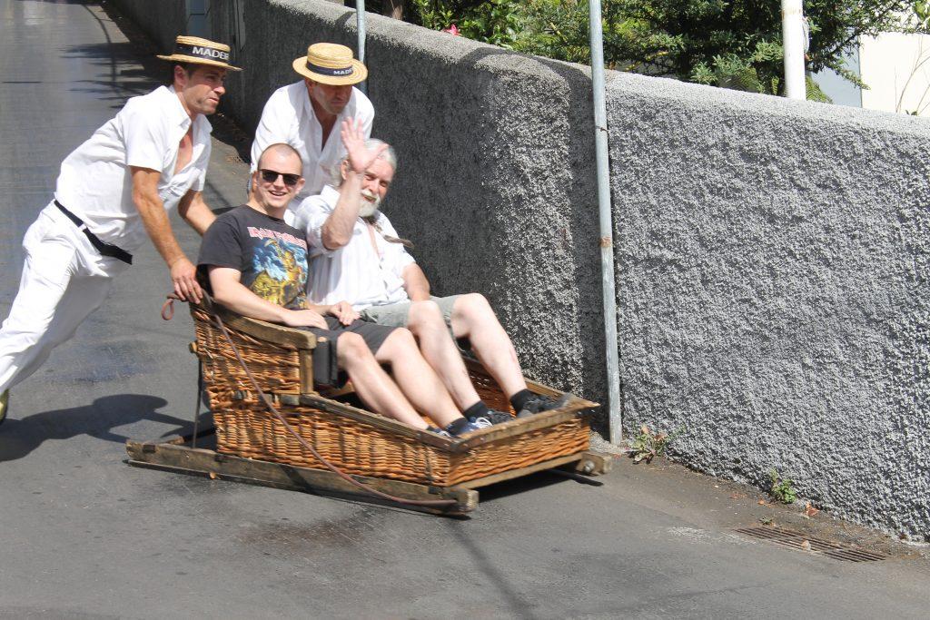 Slædekørsel i Funchal's gader, Madeira
