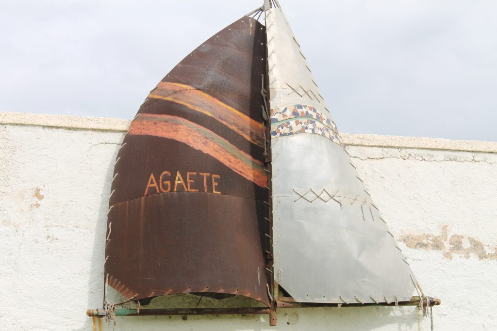 Ved rundkørslen mellem Nieves og Agaete