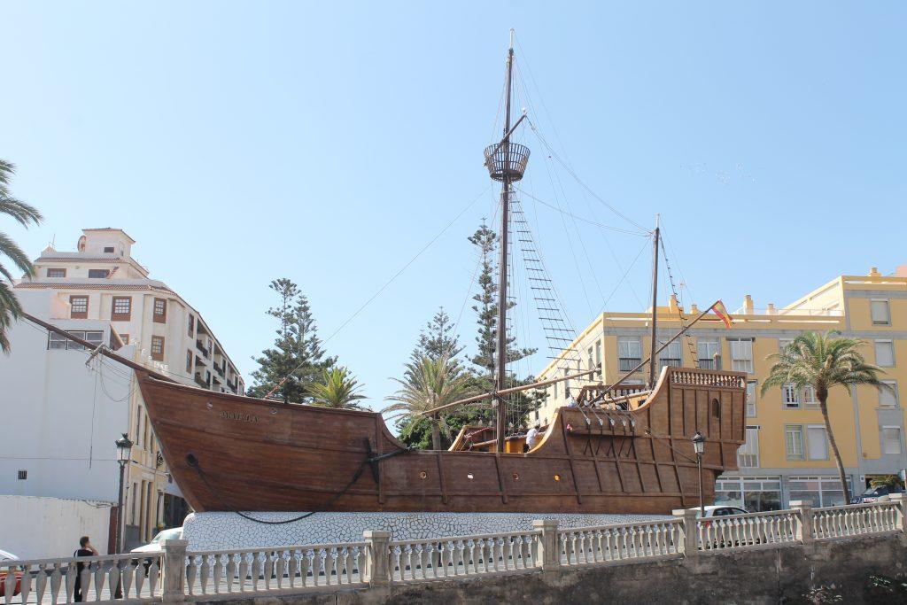 Kopi af Christopher Columbus skib i Santa Cruz, La Palma