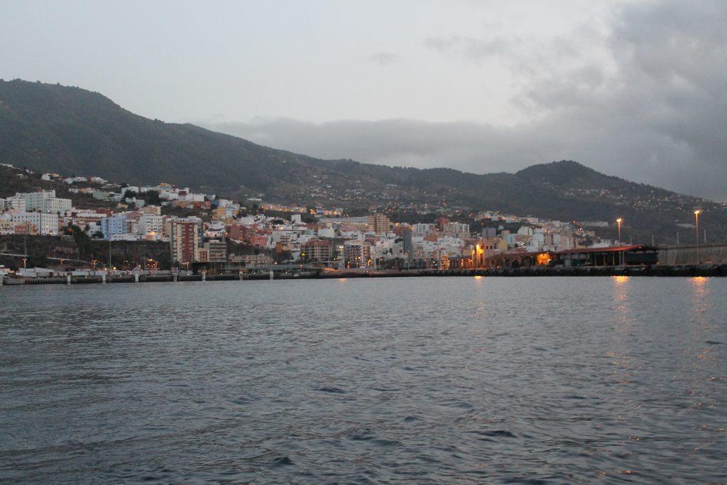 Afrejse fra Santa Cruz, La Palma