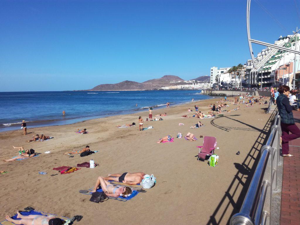 Stranden i Las Palmas i November
