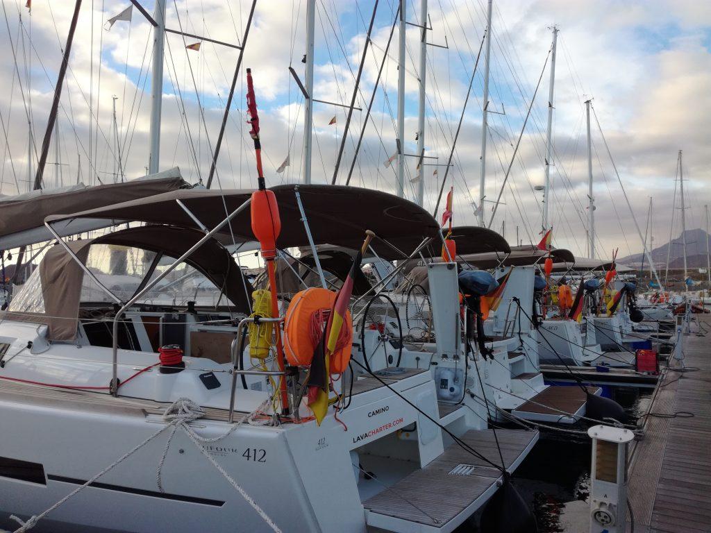 Charterbåde i Marina del Sur, Las Galletas