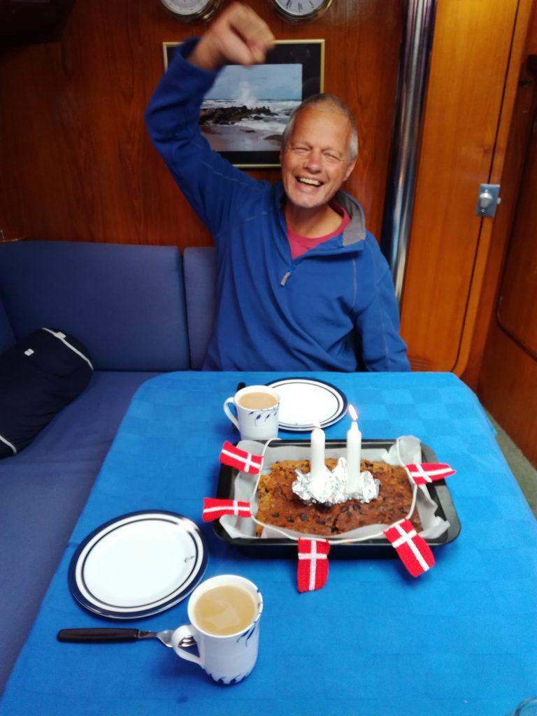 2. fødselsdag fejres ombord