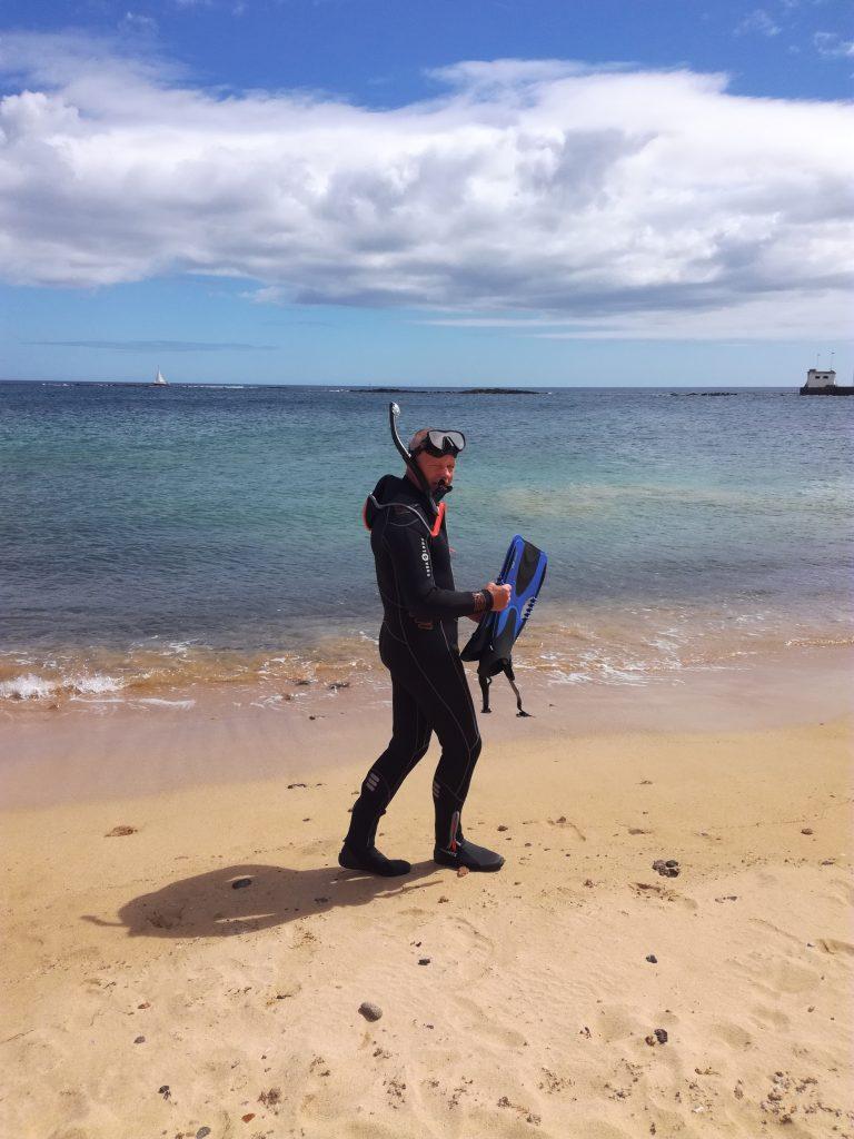 Badedag i Arrecife