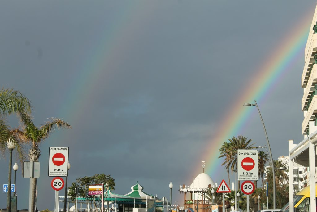 Lanzarote i regnvejr