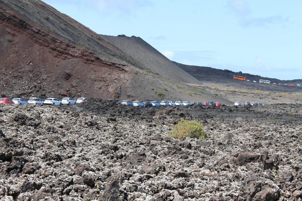 Kø for at komme i Timanfaya National park