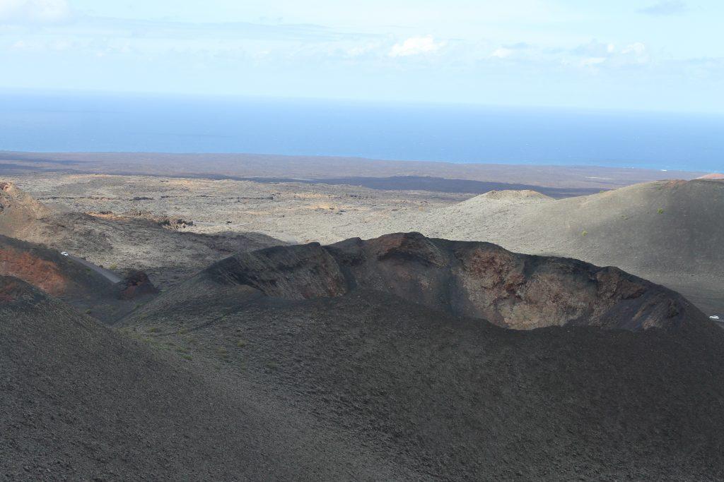 Vulkan krater i Timanfaya National park