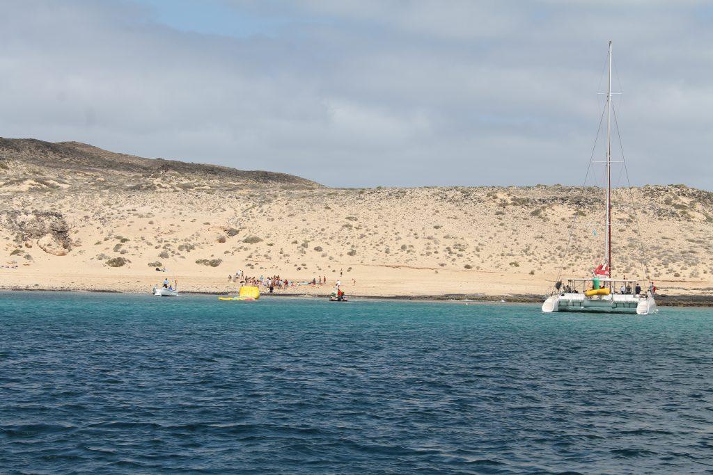 Eneste lovlige ankerplads ved La Graciosa