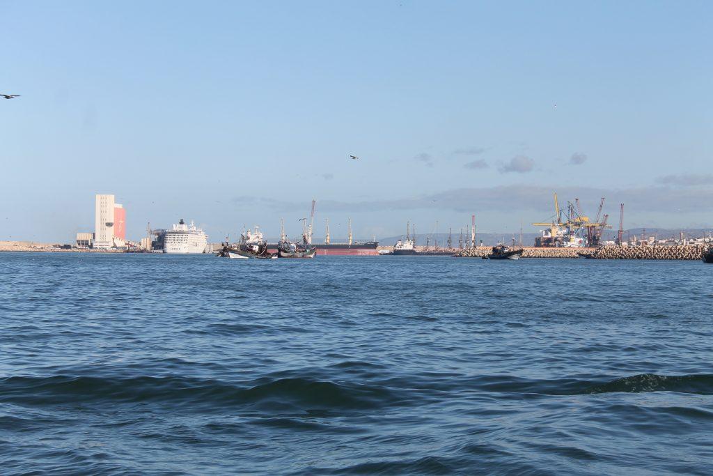 Indsejlingen til Agadir Marina
