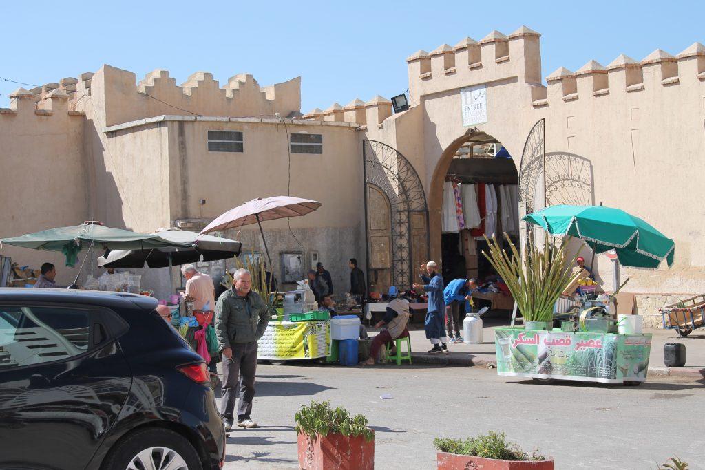En af indgangene til Agadir Souk (Marked)